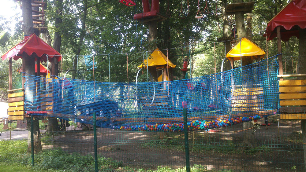Siatki do parków linowych